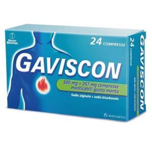 Acquista Online gaviscon 24 compresse menta 500+267mg e Cerca il miglior prezzo