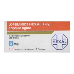 Loperamide hexal 15 capsule 2mg