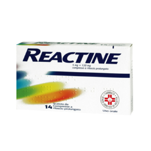 reactine 14 compresse 5mg+120mg a rilascio prolungato